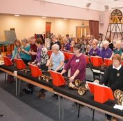 Ringing at a joint handbell and tower bell rally